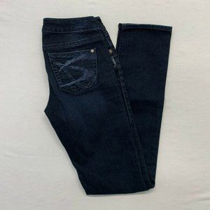 Silver Aiko Slim Jeans Women's Size 25-33 Dark Was